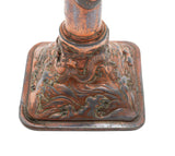 Antique Japanese Antimony & Copper Plated Candlestick with Dragons (Code 2210)