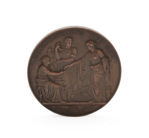 Vienna World Fair Exhibition 1873 Franz Joseph Bronze Merit Medal - Collinson (Code 2217)