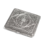 Antique Middle Eastern Hand Made Silver Filigree Wire Cigarette Case c1890 (Code 2221)