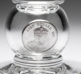 Edward VIII Coronation Drinking Glass with Silver Coin for Plummer Ltd NYC (Code 2240)