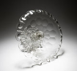 Antique Victorian Cut Glass Tazza/Sweetmeat Stand with Fold Over Rim c1870 (Code 2242)