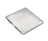 Art Deco Sterling Silver Engine Turned & Geometric Design Cigarette Case 1936 (Code 2289)