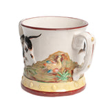 Antique Large Staffordshire Pottery Hunting Pearlware Frog Mug / Loving Cup (Code 2309)