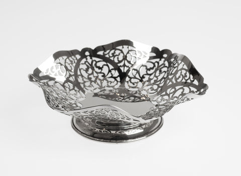 Vintage Silver Sweetmeat Dish with Pierced Sides - SJ Rose London 1974 (Code 2323)