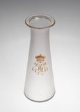Antique Frosted Glass Carafe / Decanter with Russian Etched & Gilded Crown (Code 2372)