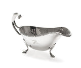 Viners Solid Silver Georgian Design Sauce Boat with Scroll Handle - Sheffield 1937 (Code 2387)