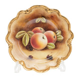 Vintage Coalport China Hand Painted Fruit Cabinet Plate with Apples - Michael Cooke (Code 2423)