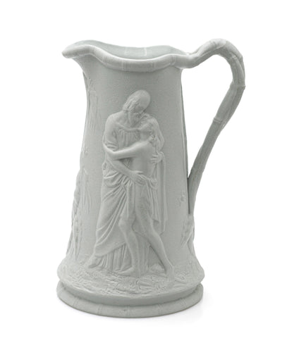 Thomas Till Biblical Moulded Stoneware Jug Prodigal Son - Antique Victorian (Code 2442)