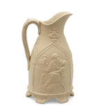 T R Boote Antique Samuel & Eli Biblical Relief Moulded Stoneware Jug c1848 (Code 2456)