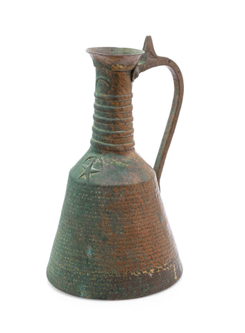 Antique Ottoman Turkish Large Copper Water Storage Jug Artisan Hand Made (Code 2532)