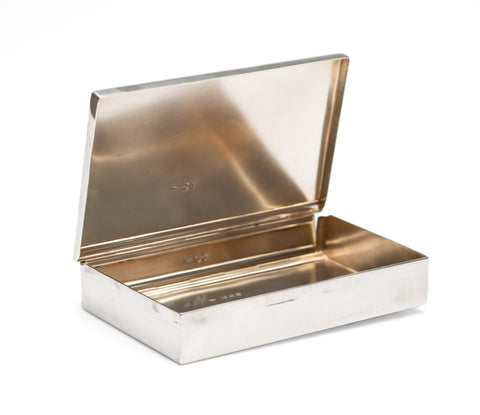 Antique Solid Silver Huntsmans Sandwich Box, Charles Fox, London 1890 (Code 2573)