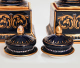 A Pair of Antique Vienna Pedestal Lidded Porcelain Vases With Hand Painted Decoration (Code 7615) - Blue Cherry Antiques - 10