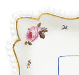Worcester Flight Barr & Barr Hand Painted Flowers Square Form Dish - Antique (Code 7669)