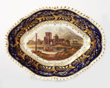 A Derby Porcelain Named View Dish with River Scene - Georgian Antique c.1815 (Code 7938) - Blue Cherry Antiques - 1
