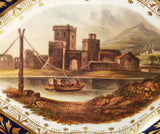 A Derby Porcelain Named View Dish with River Scene - Georgian Antique c.1815 (Code 7938) - Blue Cherry Antiques - 5