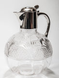 A Victorian Antique Cut Glass Claret Jug With Hallmarked London 1891 Silver Mount (Code 8006) - Blue Cherry Antiques - 1