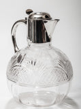 A Victorian Antique Cut Glass Claret Jug With Hallmarked London 1891 Silver Mount (Code 8006) - Blue Cherry Antiques - 2