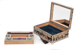 An Anglo-Indian Vizagapatam Ivory and Tortoiseshell Jewellery Box (Code 8109) - Blue Cherry Antiques - 7