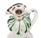 A Stuart Crystal Art Nouveau Silver & Glass Cairngorm Drop Decanter / Claret Jug (Code 8265)
