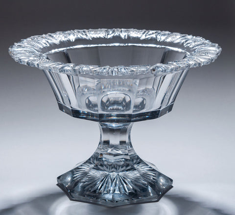 A Fine Victorian Large Cut Glass Bowl with Decorative Rim - Antique Circa 1860 (Code 8277) - Blue Cherry Antiques - 1