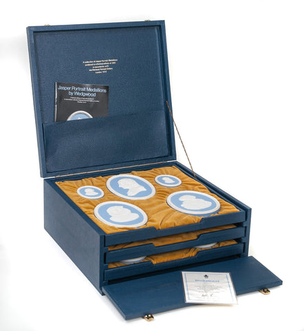 Wedgwood National Portrait Gallery Limited Edition Jasper Ware Medallion Set (Code 9881)