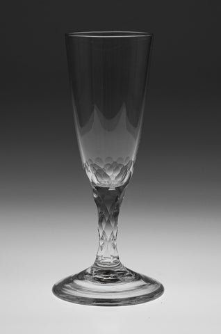 Georgian Antique English Lead Ale Glass with Facet Cut Stem c1780 (Code 9987)