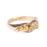 Antique 18ct Gold & Diamond Victorian Ring Hallmarked 1883 Size K  (Code A452)