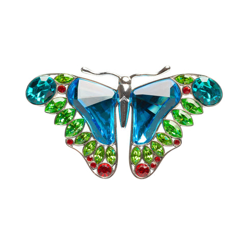 Swarovski Crystal & 925 Silver Large Butterfly Brooch - Retired  (Code A476)