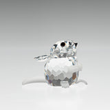 Swarovski Silver Crystal Field Mouse Figurine With Original Box & Cert - Retired  (Code A488 G)