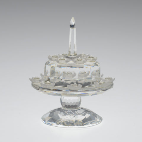 Swarovski SCS Crystal Glass 5th Anniversary / Birthday Celebration Cake # 169678  (Code A599 W)