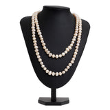 Vintage Fresh Water Baroque Pearl Extra Long Necklace 46.5 Inch Weight 128 grams  (Code A616)