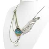 Swarovski Crystal Necklace Large Wing Form Statement Piece With Original Box (Code A649)