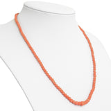 Antique Victorian Natural Coral Bead Necklace & 9ct Gold Clasp - Hand Made  (Code A652)