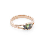 Art Deco 18ct Gold & Green Topaz Trapezoid Ring B'ham Hallmark c.1920  (Code A675)