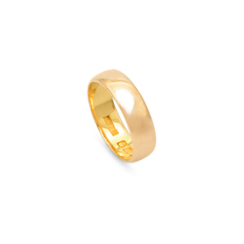 Antique George V 22ct Gold Hallmarked Wedding Band Ring Birmingham 1919  (Code A704)