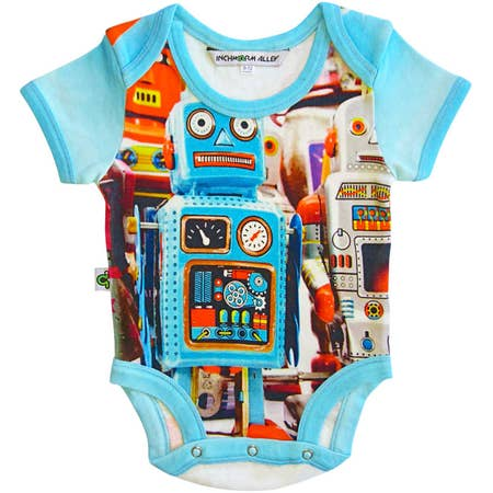 Inchworm Alley Robot Short Sleeve Onesie