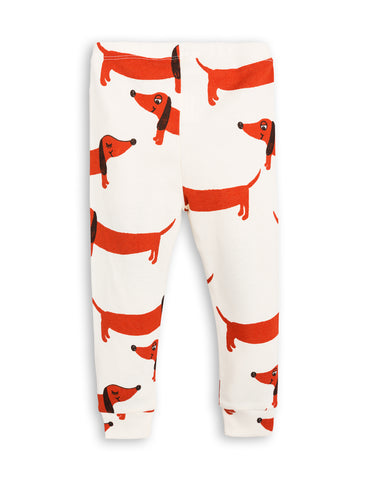 Mini Rodini Off White Dog Leggings