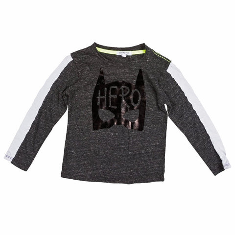 Joah Love Charcoal Gray Bruce Hero Shirt (6M)