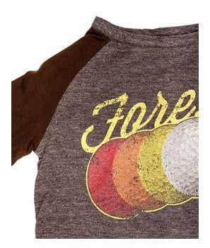 Fore!! Axel & Hudson Reversible Raglan with Golf Ball Print Melange - Brown