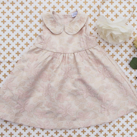 Egg Kathryn Gold & Blush Brocade Dress