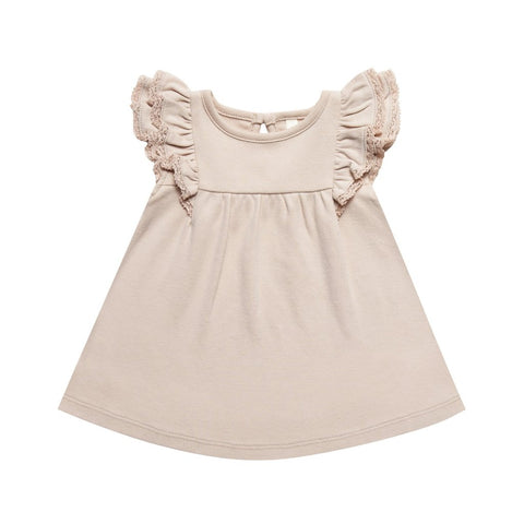 Quincy Mae Rose Blush Flutter Dress