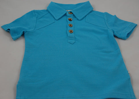 Fore!! Axel & Hudson Short Sleeve Polo - Aqua