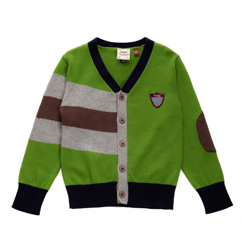 Fore!! Axel & Hudson Green and Blue Cardigan with Elbow Detail (5-6yrs)