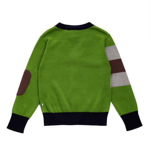 Fore!! Axel & Hudson Green and Blue Cardigan with Elbow Detail