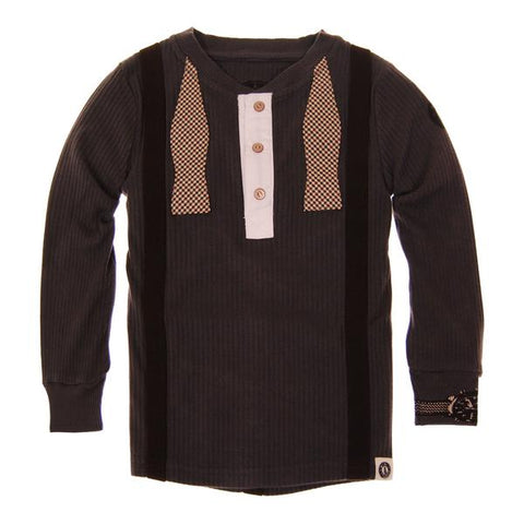 Mini Shatsu Henley Bowtie Suspender Button Down