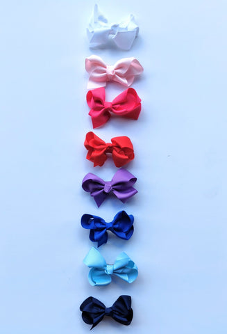 "3"" grossgrain bows (on alligator clip) Multiple Colors"