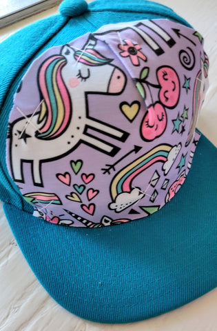 Unicorns & Rainbows Teal Hat