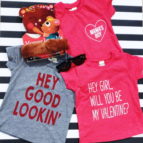 Little Adventure Hey Girl Be My Valentine Tee