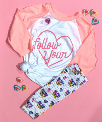 Hooligans Follow Your Heart Raglan