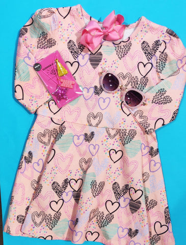 Lucky Jade Cotton Hearts Dress